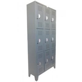 Locker casillero 9  puertas